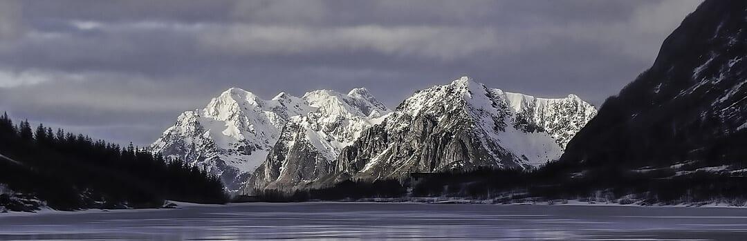 Innsjø, skog og fjell